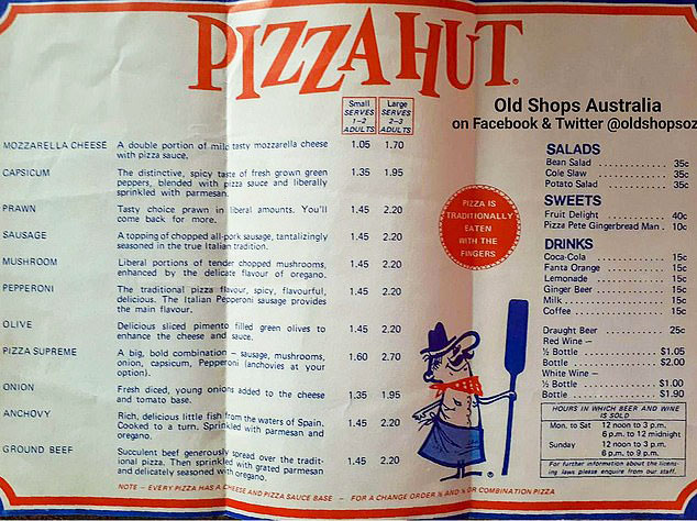 image about Pizza Hut Menu Printable identify Observe Out This Outdated Pizza Hut Menu With Truthful 1970s Charges!