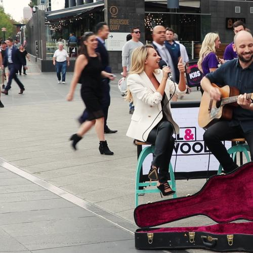 Samantha Jade Vs Will & Woody In A Busk-Off!