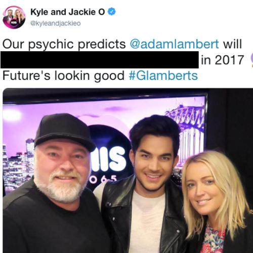Our Psychic Prediction About Adam Lambert Came True