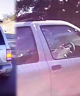 Driver Caught Writing In Notebook While Driving On Sydney Motorway
