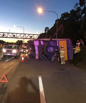 Truck Roll-Over Closes Part Of Sydney's M4 This Morning