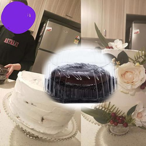 Melbourne Bride Makes Amazing Wedding Cake Using $4 Woolies Cakes