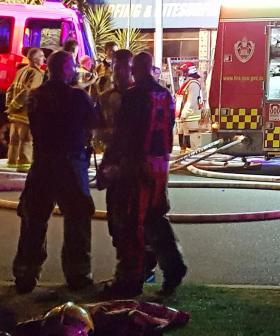 Industrial Yard Erupts In Flames In Sydney's West