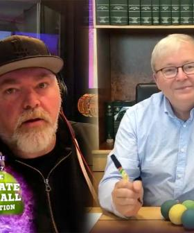 Kyle And Kevin Rudd Discuss Their Tactics For Their Handball Match