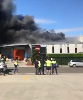 Chemical Factory Erupts Into Flames In Sydney's South West