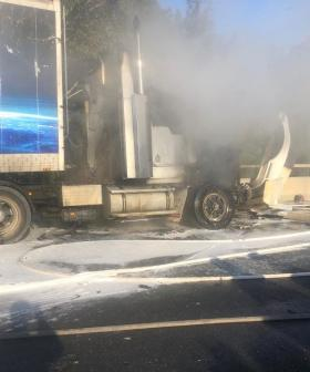 Lanes Closed On Sydney's M7 After Truck Fire
