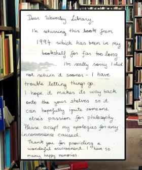 """I'm Really Sorry"": Library Book Returned 25 Years Late With Apology"