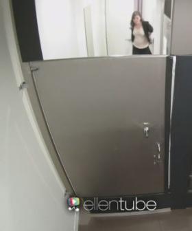 Justin Bieber & Ellen Scare Audience Members In The Bathroom