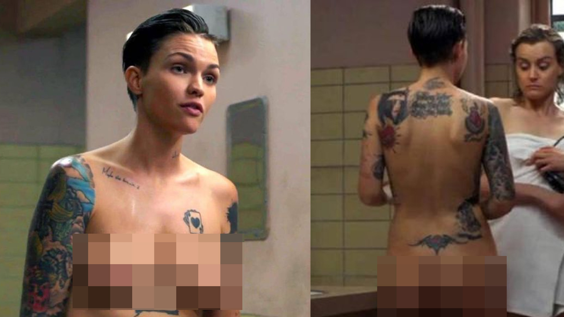 Ruby Rose's Great Boobs Topless