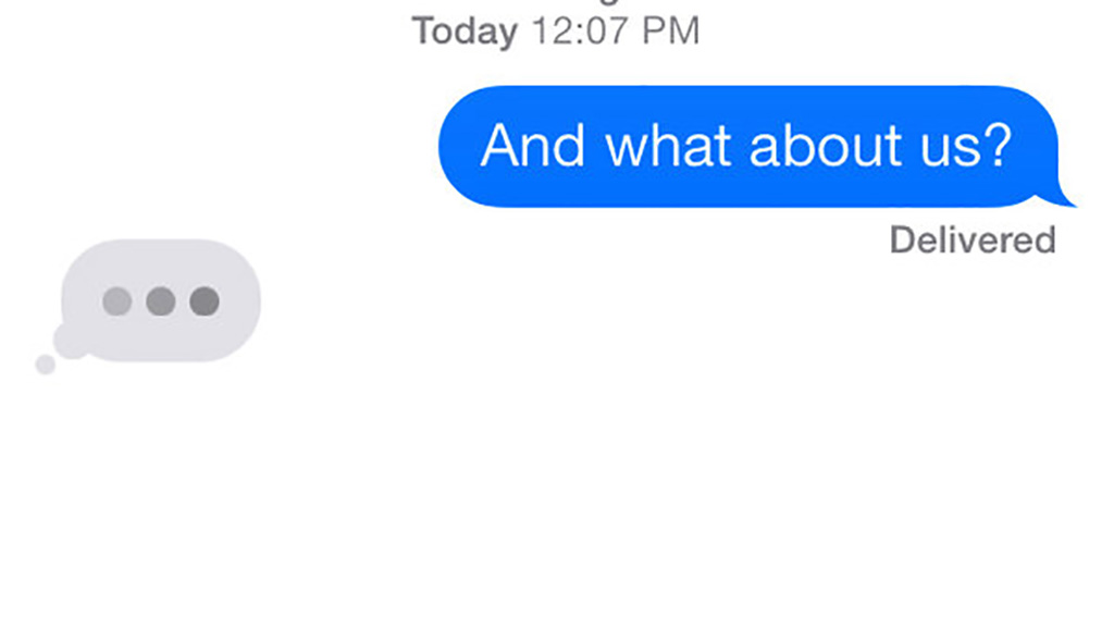 What The Three Little Dots In iPhone Messaging Are All About
