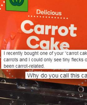 Woolies Is Getting Dragged For 'Three Thin Slices' Of Actual Carrot In Cake