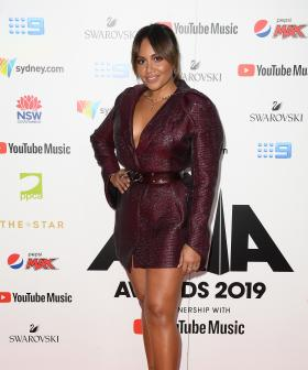 http://Jessica%20Mauboy%20arrives%20at%20the%2033rd%20Annual%20ARIA%20Music%20Awards%20at%20The%20Star%20in%20Sydney,%20Wednesday,%20November%2027,%202019.%20(AAP%20Image/Dan%20Himbrechts)%20NO%20ARCHIVING