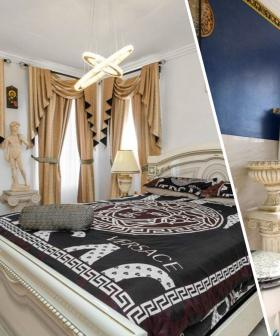 Versace-Inspired Sydney House Complete With $30,000 Curtains Is On The Market