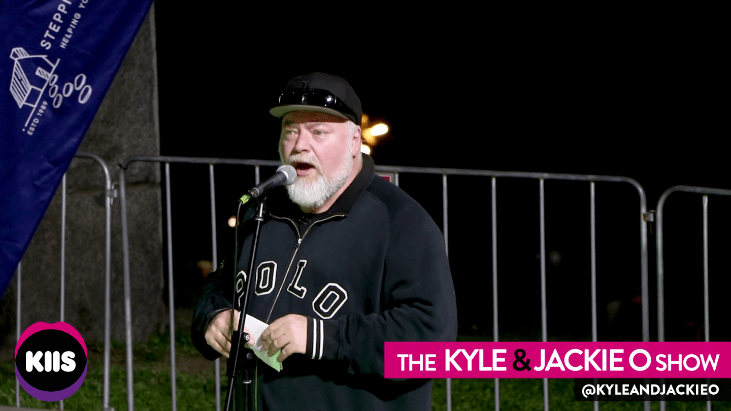 Kyle speaks at the 2019 'Sleep Under The Stars'
