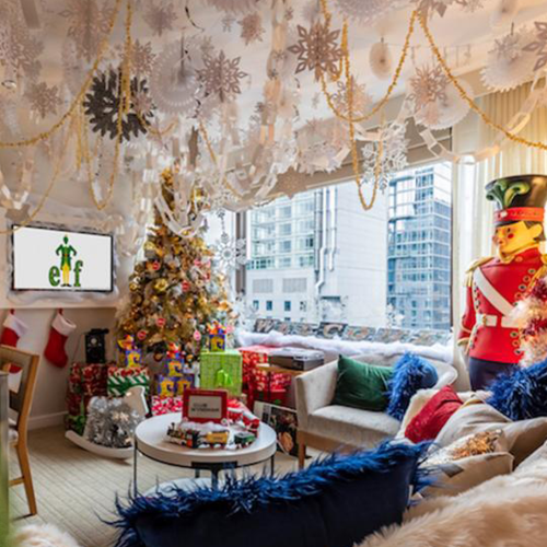 You Can Live Like Buddy The Elf In This Winter Wonderland Apartment