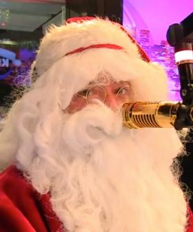 Santa Stops By The Studio To Answer Kids Questions