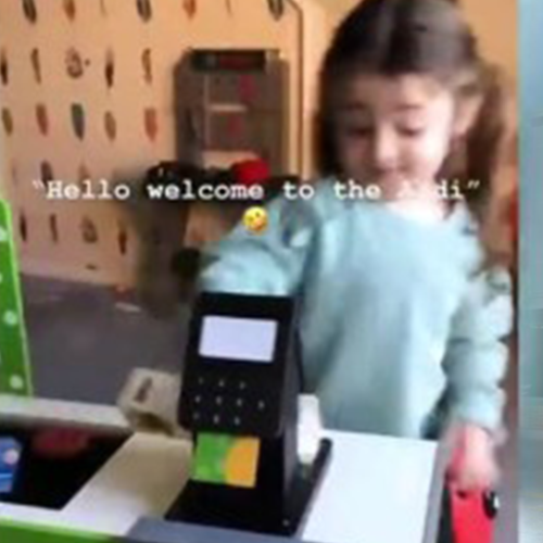 Three-Year-Old Childs Amazing Impression Of Aldi Checkout Has Everyone Laughing