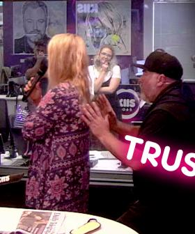 #KJTrustTest - Jackie does a TRUST FALL on Kyle