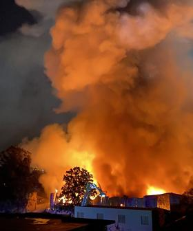 Blaze Rips Through Warehouse In Sydney's South