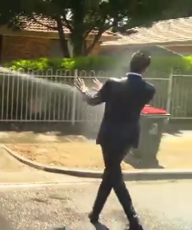 Watch 'A Current Affair' Reporter Get Completely Drenched By Family On National TV
