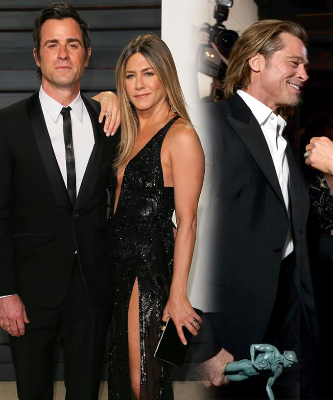 Reports Justin Theroux Found Post It Notes From Brad Pitt While Married To Jennifer Aniston