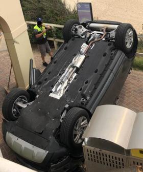 Car Rolls Down Cliff At Bondi Beach