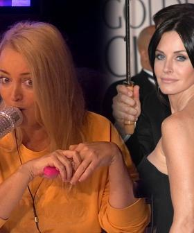 Jackie Had A Sneaky Plan To Meet Courtney Cox At The Golden Globes But It Backfired Massively