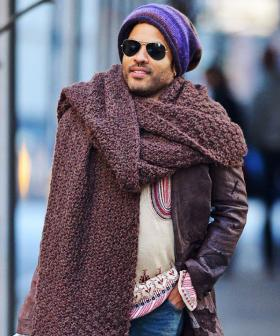 Lenny Kravitz Tells Us How THAT Viral Meme With His Giant Scarf Came About