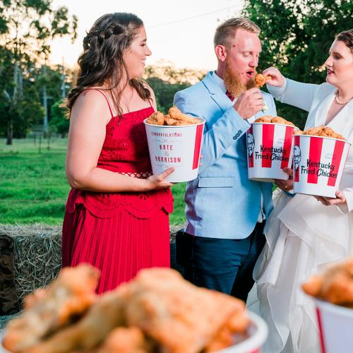 An Aussie Couple Just Became The World's First To Get Married In A KFC