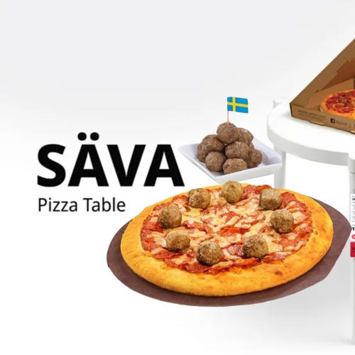 Ikea Is Selling A Table That Looks Like Those Little, White, Pizza Savers!