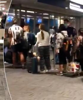 Shocking Footage Shows Crowds Huddled Together At Sydney Airport Amid Social Distancing Rules