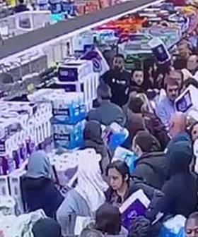 ALDI Shoppers In Stampede For Toilet Paper In Sydney's West