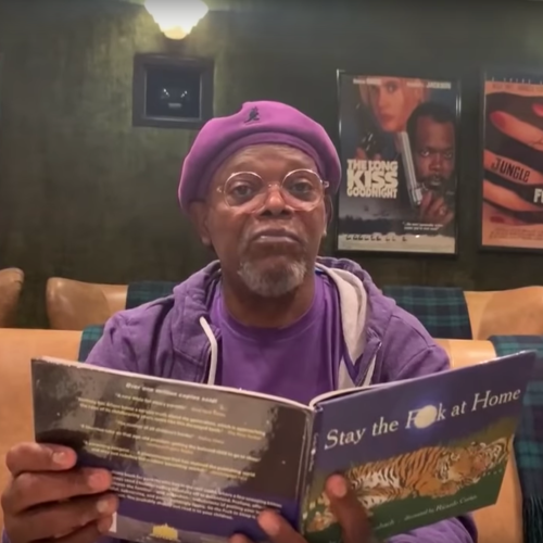 Samuel L Jackson Reads A Book Called 'Stay The F--- At Home!', So We Best Do What He Says