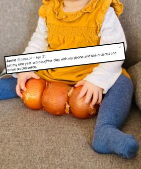 1 Year Old Accidentally Buys 3 Single Onions Over Deliveroo On Dad's Phone
