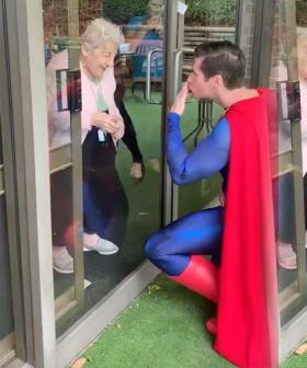 Sydney Man Dresses As Superman To Surprise Elderly Residents In Lockdown
