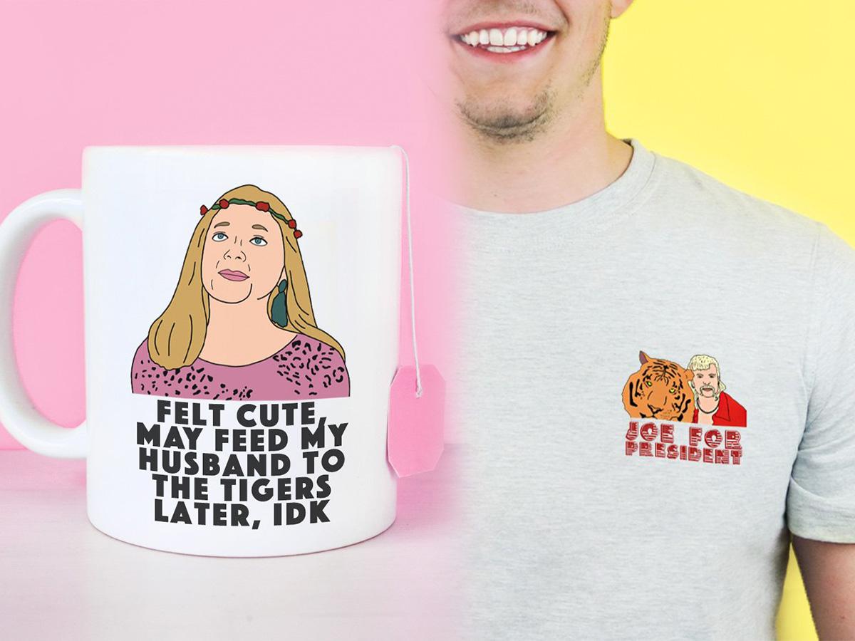 Tiger King Carole Baskin Hey vous tous COOL CATS Chatons Baby Grow Babygrow Cadeau