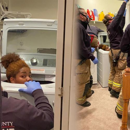 Woman Got Stuck In Her Washing Machine During An Intense Game Of Hide-And-Seek