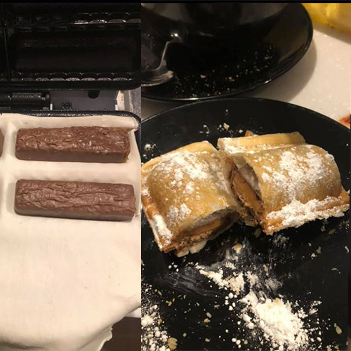 Some Genius Put Mars Bars In Kmart's Sausage Roll Maker For The Perfect Dessert