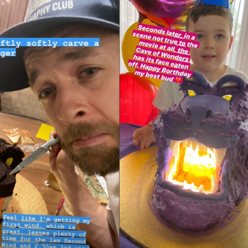 Hamish Blake Made His Son An Aladdin-Themed Birthday Cake & It Puts Your Past Efforts To Shame