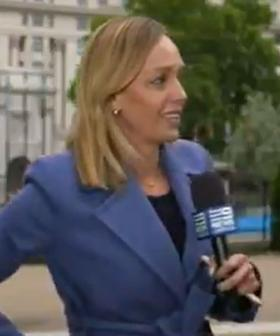 Aussie Reporter Has Terrifying Moment During Live Cross To Nine News