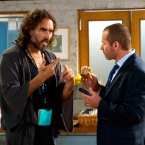Russell Brand Made A Cameo Appearance On Neighbours And Toadie Was Fangirling Hard