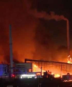 More Than 100 Firefighters Battle Factory Fire In Sydney's South-West