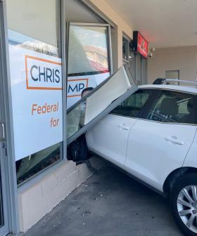 Car Plunges Into MP Chris Bowen's Office In Sydney's West