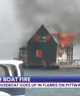 Luxurious Sydney Houseboat Goes Up In Flames