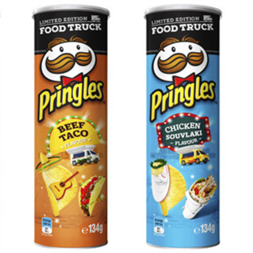 Chicken Souvlaki & Beef Taco Pringles Now Exist To Take Snacking To New Heights