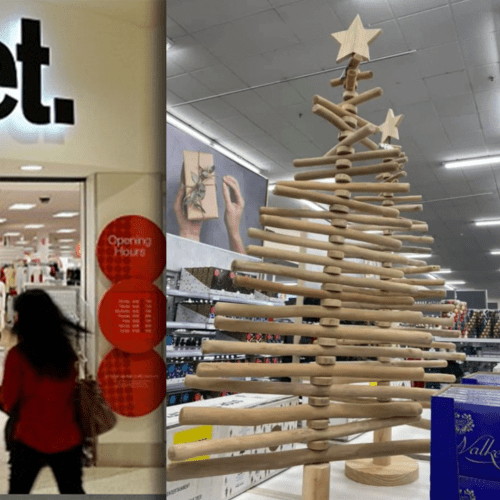 Social Media Cringes At $89 Wooden Christmas Tree From Target