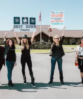 Paris Hilton Leads Protest Outside School She Was Allegedly Abused At