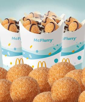 Macca's Has Introduced A Donut Ball McFlurry To It's UberEATS Menu!!