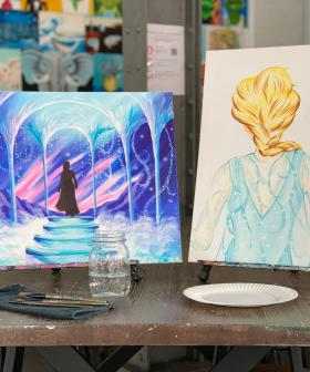 Cork and Canvas Are Hosting Disney Frozen Themed BYO Wine Art Classes!