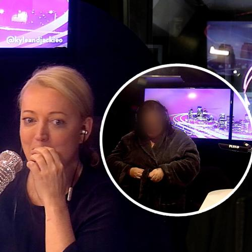 This Incredible Confident Aussie Gets TOTALLY Naked In Front Of Kyle, Jackie O & HER MUM!
